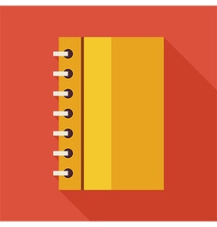 flat business office notebook with spiral vector image