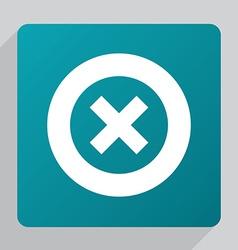 Flat close icon vector