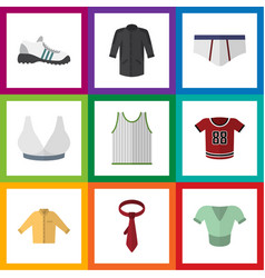 Flat icon clothes set of underclothes t-shirt vector