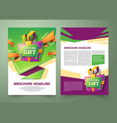 flyer cover design business brochure vector image