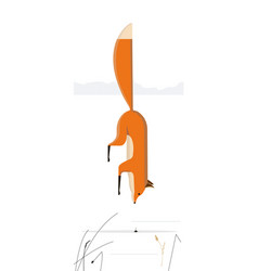 Fox hunts mouse vector
