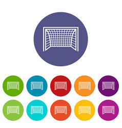goal football icon simple black style vector image
