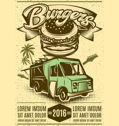 Good burger car fast food truck vector