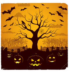 halloween evening design vector image