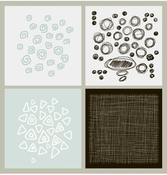Hand Drawn textures made with ink vector image