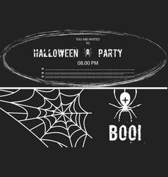 happy halloween banner set of design vector image
