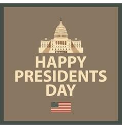 Happy president day vector
