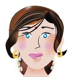 indian face vector image
