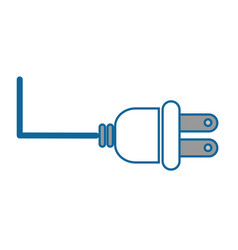 isolated energy plug vector image
