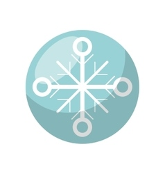 Isolated snowflake of Christmas season design vector