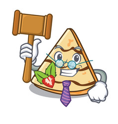 Judge crepe mascot cartoon style vector