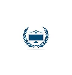 law firm emblem logo vector image