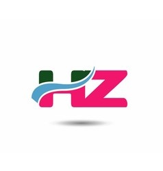 Letter h and z logo vector