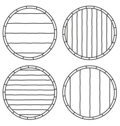 line art black and white copy space on barrel set vector image