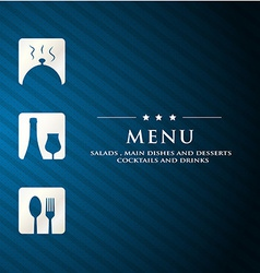 menu restaurant presentation with blue background vector image