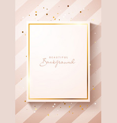 mockup luxury cream color poster template vector image