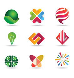 Modern colorful logo design inspiration vector