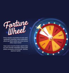 Motion fortune wheel poster vector