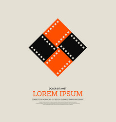 movie and film modern retro vintage poster vector image