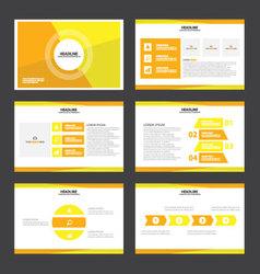 Orange yellow presentation templates Infographic vector