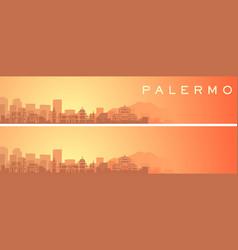 Palermo beautiful skyline scenery banner vector