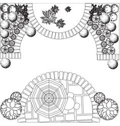 Plan of garden vector