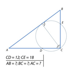 Problem of finding the legs of a right vector