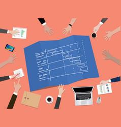 Project timeline schedule concept vector