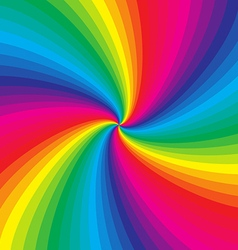 Rainbow colorful spiral background vector