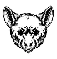 rat tattoo with sharp teeth vector image