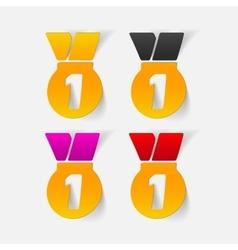 realistic design element medal vector image