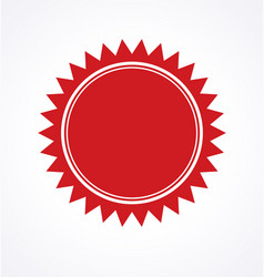 red blank award certificate seal vector image