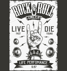 Rock and roll poster vector
