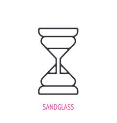sandglass outline icon vector image