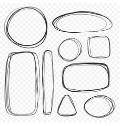 Set bubble boxes in a minimalistic sketch vector