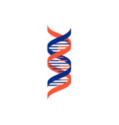 spiral green dna medical icon vector image