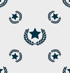Star award icon sign Seamless pattern with vector image