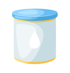 stylized jar with milk mixture vector image