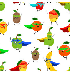super fruits seamless pattern vector image