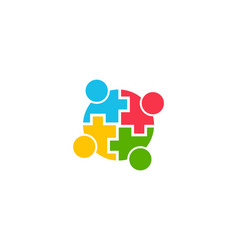 teamwork community people logo graphic vector image