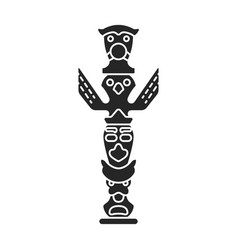 Totem iconblack icon isolated on vector