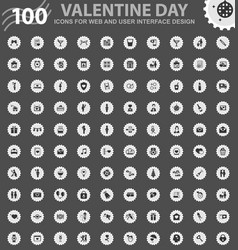 valentine day icons set vector image