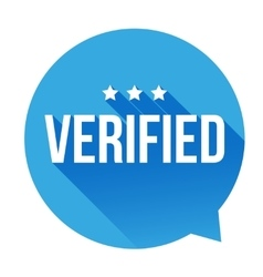 Verified badge speech bubble vector