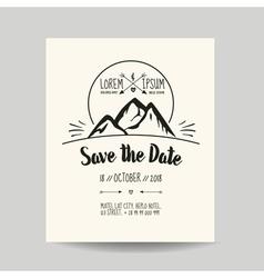 Wedding invitation card - save date vector