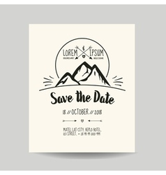 Wedding Invitation Card - Save the Date vector