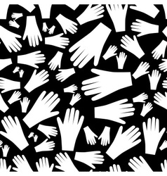 white hands seamless pattern eps10 vector image