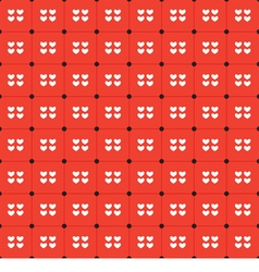 White Hearts Seamless Pattern vector image