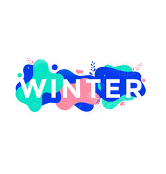 winter banner design with abstract geometric shape vector image