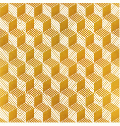 yellow color geometric seamless pattern vector image