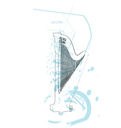 Abstract harp vector image